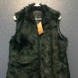 Baccini Faux fur vest